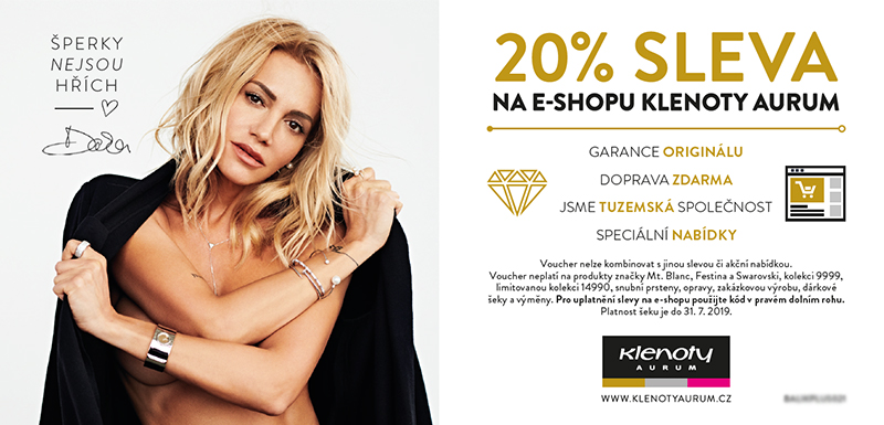 Klenoty Aurum CZ Voucher 20%