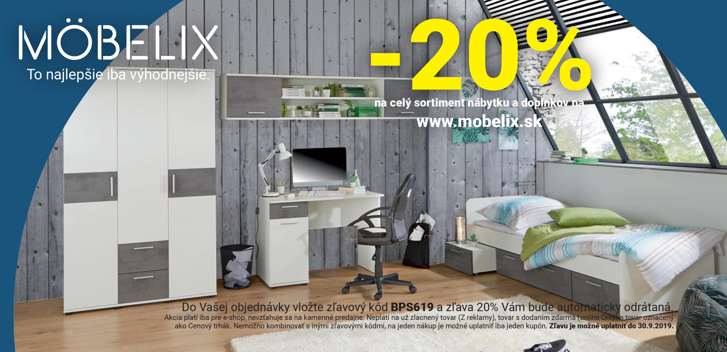 Voucher de reducere Mobelix în rețeaua PACHET PLUS